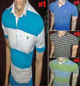 Mens Muscle Abercrombie A Eagle Casual POLO Shirt S A1