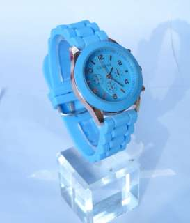 New Unisex Silicone Rubber Jelly Gel Quartz Analog Sports Wrist Watch