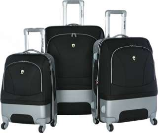 Olympia Excalibur 3 Piece Expandable Luggage Set