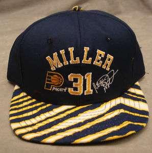 1990s ZUBAZ PACERS REGGIE MILLER SNAPBACK SIGNATURE HAT