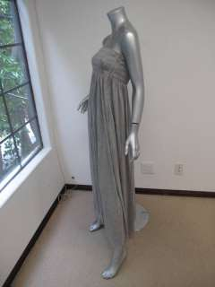 NWT A.L.C. Heather Gray Rouched Bust Strapless Maxi Dress XS $425