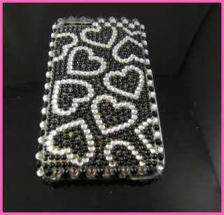 Lover Heart Bling Crystal Full Hard Case for iPod Touch 2 2G 3G Black