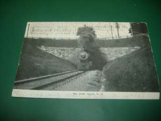 1908 RR STEAM LOCOMOTIVE ARCH DOVER NH Antique Postcard