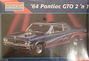Monogram 64 Pontiac GTO 2 n 1 Muscle Car Model Kit