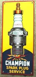 CHAMPION SPARK PLUG PORCELAIN METAL SIGN NR