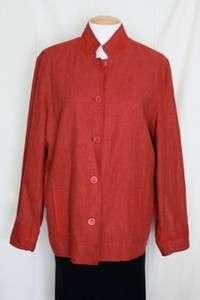 NWT Coldwater Creek Sunset Crossdye Jacket Red Plus 1X