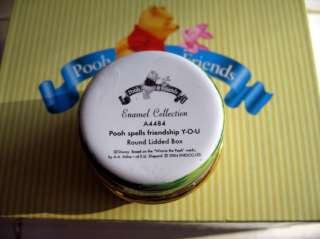 Winnie Pooh & Friends Porcelain Trinket Box GIFT NEW