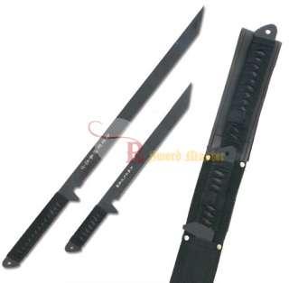 Dual Full Tang Black Ninja Combat Sword With Sheath Katana Brand New