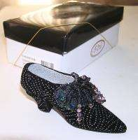Style Collectible Shoe Figurine Starlight Noir NIB Crystals Blk