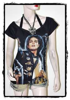 Michael Jackson Pop Rock DIY Short SLV Tee Top Shirt