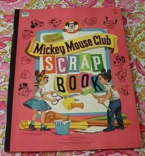 MICKEY MOUSE CLUB SCRAP BOOK DISNEY 1955 UNUSED