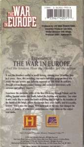 VHS HISTORY CHANNEL WORLD WAR IITHE WAR IN EUROPE