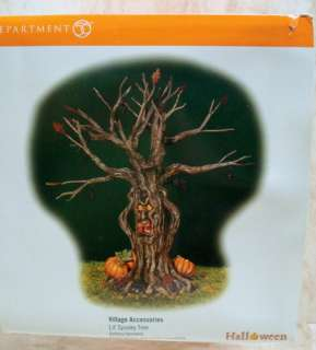 DEPT 56 Lit Spooky Tree HALLOWEEN Face LIGHTS TA 52896