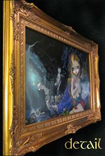 Night Jasmine Becket Griffith ORIGINAL PAINTING fantasy fairy art goth