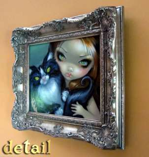 Jasmine Becket Griffith ORIGINAL PAINTING lowbrow art big eye gothic