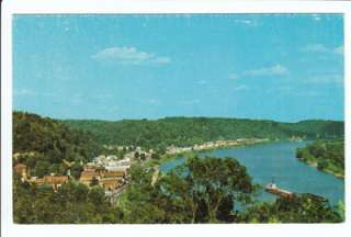 Pomeroy Bend Ohio OH River Old Postcard Meigs County Vintage Aerial