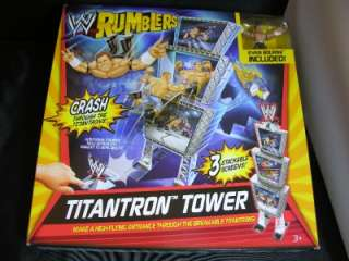 WWE Rumblers TITANTRON TOWER with EVAN BOURNE figure NIB