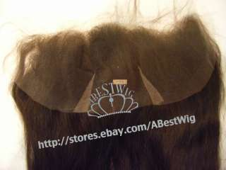16100% Indian Remy Human Hair Lace frontal #2 straight