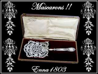 TOP French Sterling Silver Asparagus Server w/box Masks
