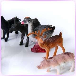 14pcs Plastic Farm Animals +fence tree play Toys Models