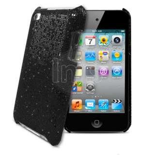 London Magic Store   Black Sparkle Glitter Hard Case For Apple Ipod