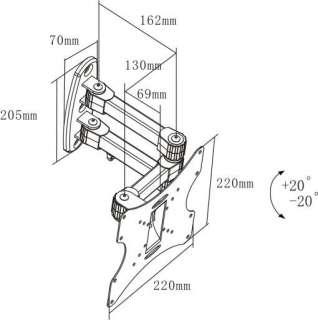 LCD LED TV Wall Mount Bracket Universal 21 22 26 30 32