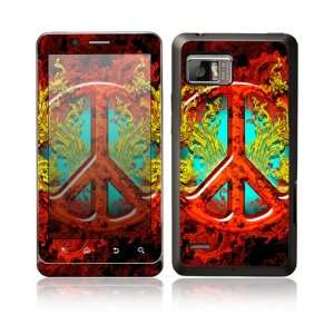 Flaming Peace Design Protective Skin Decal Sticker for