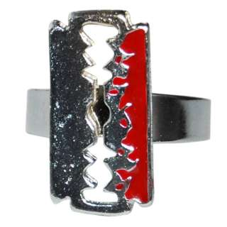 Ring Razor Blade Rockabilly Pin Up Retro Tattoo Punk