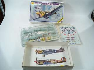 Otaki Curtiss P 40E Warhawk 1/48 Scale Model Airplane Kit OT2 16