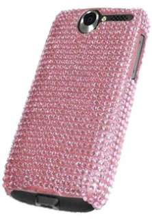 NEW PINK DIAMANTE CRYSTAL DIAMOND CASE FOR HTC DESIRE