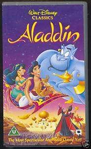 ALADDIN   ORIGINAL DISNEY HOLOGRAMS   VHS PAL (UK)