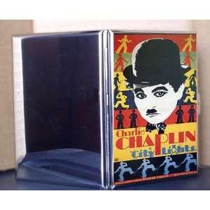 City Lights Vintage Charlie Chaplin Movie Metal Cigarette Case ID