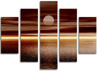 ea CANVAS ART  BROWN MODERN CONTEMPORARY 5 SET CANVAS C
