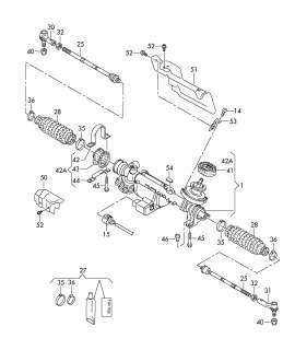 VW Jetta/syncro/Eos Repair Set/Kit, Steering 1K0498884