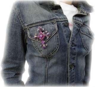 Jean Jem/Gem   Swarovski Crystal Cross   Pink