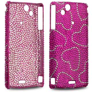 LOVE HEARTS BLING CASE FOR SONY ERICSSON XPERIA ARC S
