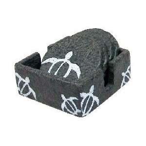 Petroglyph Style Coaster / Round Honu: Kitchen & Dining