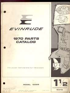 1970 EVINRUDE 1.5HP OUTBOARD MOTOR PARTS MANUAL