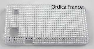 Coque strass arrière Samsung Galaxy S I9000   bulles fines blanches