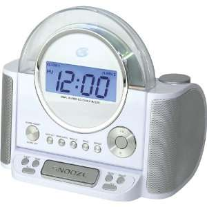 GPX CRCD 6306DT Clock Radio and CD Player with Digital