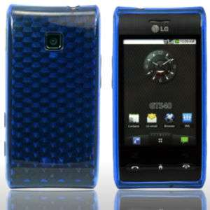 BLUE SILICRYLIC GEL CASE COVER FOR LG GT540 OPTIMUS