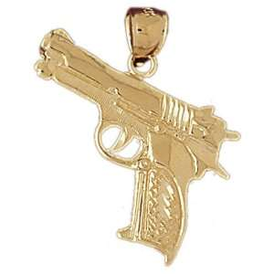 14K Gold Pendant Military Inspired 3.4   Gram(s): CleverEve: Jewelry