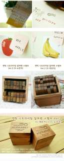 Funnyman] Antique Big/Small Alphabet Rubber Stamp   S2