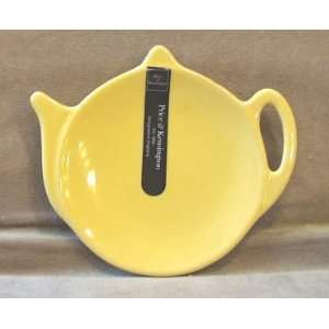 Price and Kensington Bright Yellow Tea Bag Holder Plate: