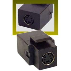 Female to Female Keystone Connector Black: Computers & Accessories