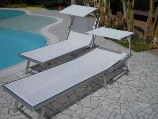 Lettino bianco Sirmione mare piscina giardino spiaggia in alluminio