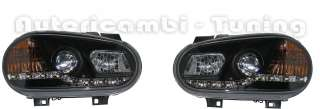 FARI ANTERIORI LED NERI DEVIL EYES DAYLINE VW GOLF 4 IV