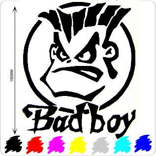 NEW BAD BOY CAR DECAL/STICKER/RALLY,BANGER RACING,SURF
