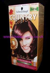SCHWARZKOPF COUNTRY COLORS HAIR COLOUR ROUGE NOIR 75