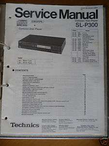 Service Manual Technics SL P300 CD Player,ORIGINAL